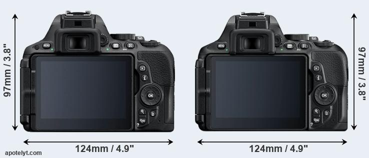 D5500 and D5600 rear side