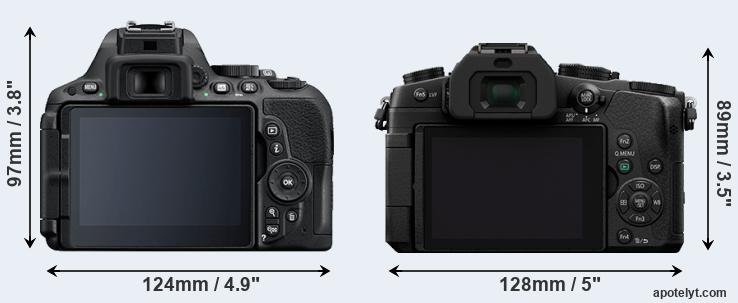 D5500 and G85 rear side