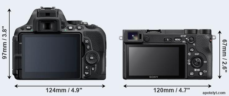 D5500 and A6500 rear side