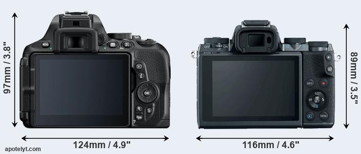 D5600 and M5 rear side