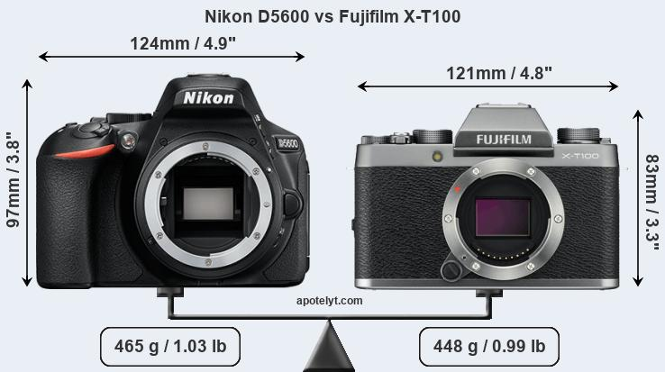 Compare Nikon D5600 and Fujifilm X-T100