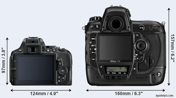 D5600 and D3 rear side
