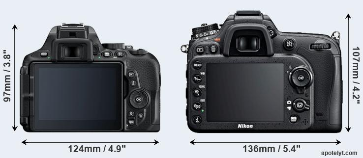 D5600 and D7100 rear side