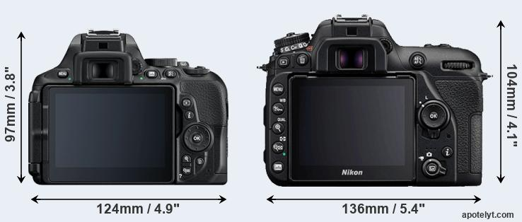 D5600 and D7500 rear side