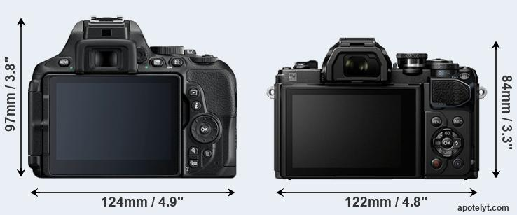 D5600 and E-M10 III rear side