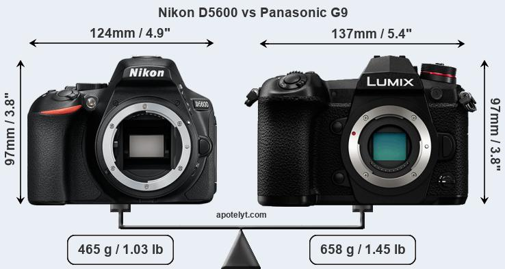 Compare Nikon D5600 and Panasonic G9
