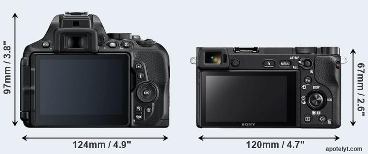 D5600 and A6300 rear side