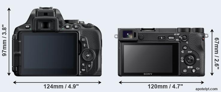 D5600 and A6500 rear side