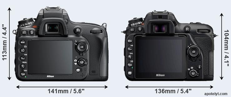 D610 and D7500 rear side