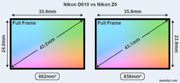 Nikon D610 vs Nikon Z6 Comparison Review