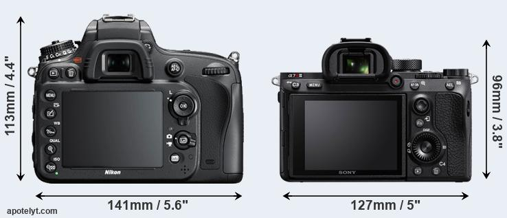 D610 and A7R III rear side