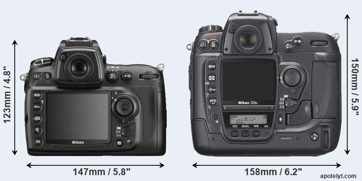 D700 and D2Xs rear side