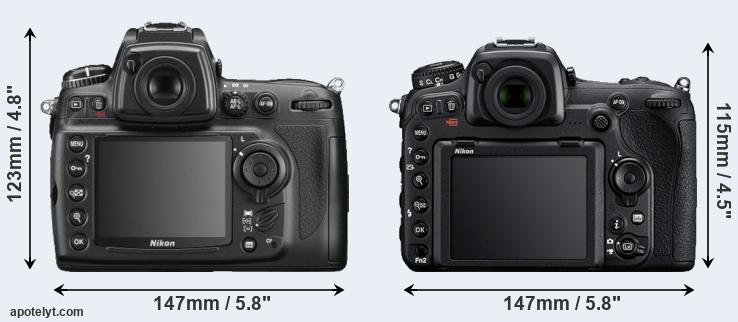 D700 and D500 rear side