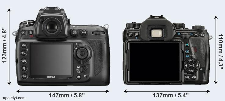 D700 and K-1 rear side