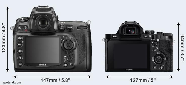 D700 and A7 rear side