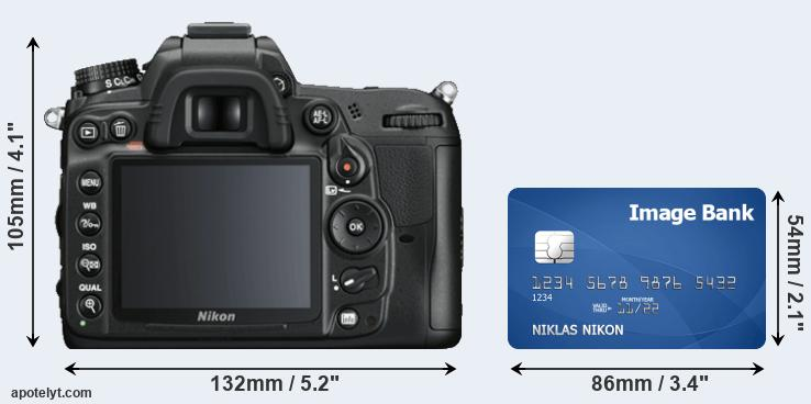 D7000 and credit card rear side