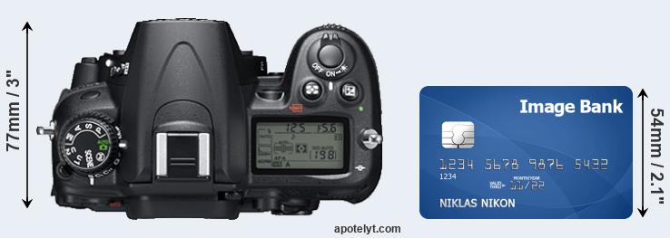 D7000 versus credit card top view