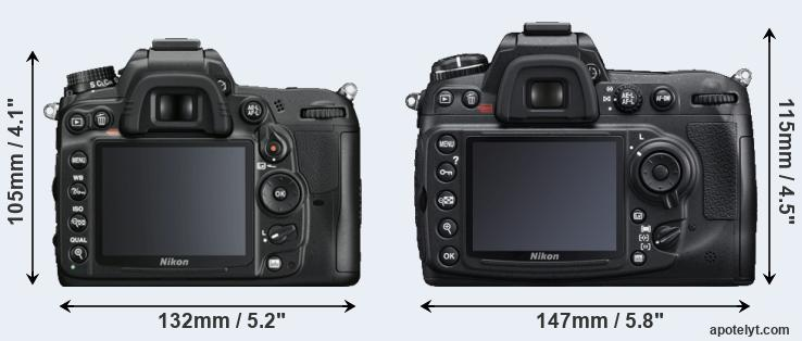 D7000 and D300S rear side