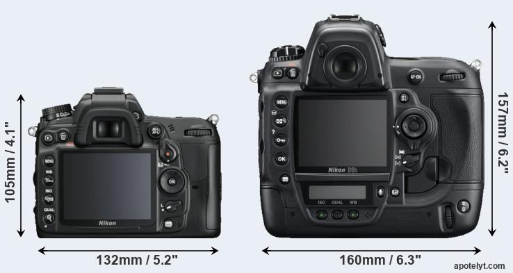 D7000 and D3S rear side