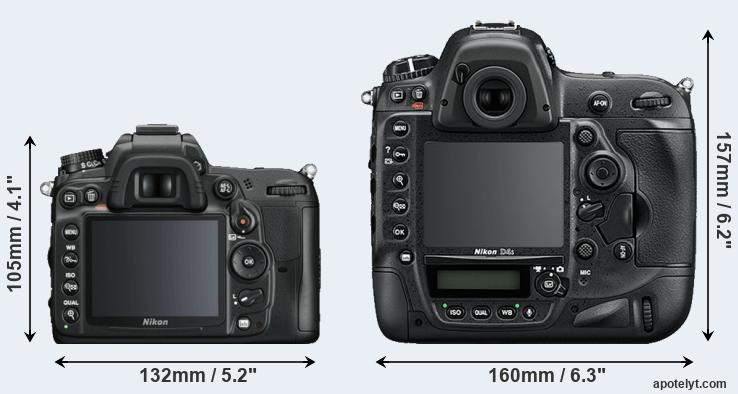 D7000 and D4S rear side