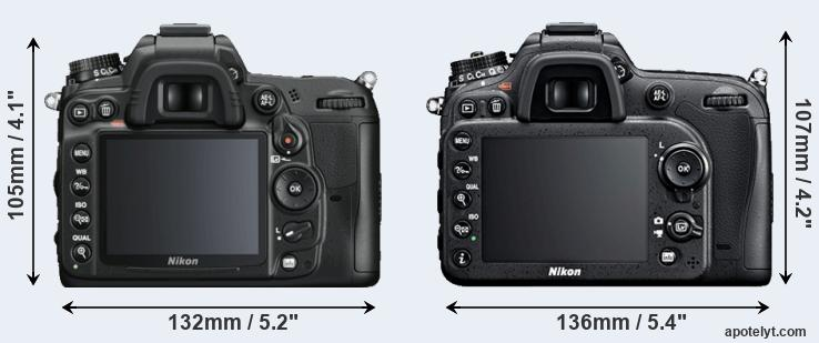 D7000 and D7100 rear side