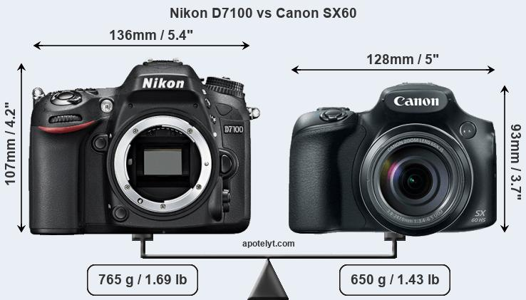 Compare Nikon D7100 and Canon SX60