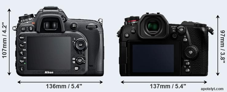 D7100 and G9 rear side
