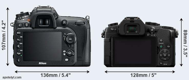 D7200 and G80 rear side