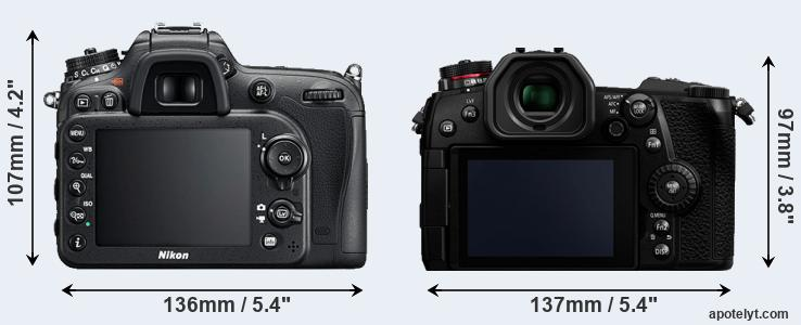 D7200 and G9 rear side