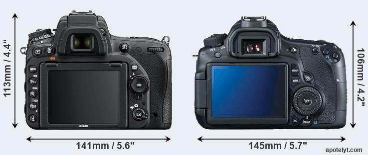 D750 and 60D rear side