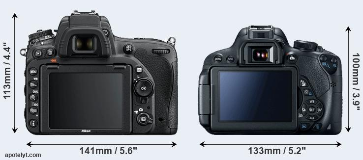 D750 and 700D rear side