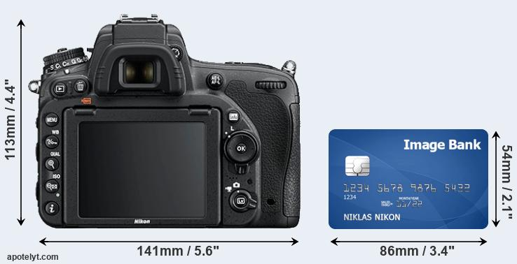 D750 and credit card rear side