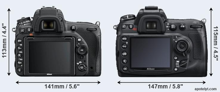 D750 and D300S rear side