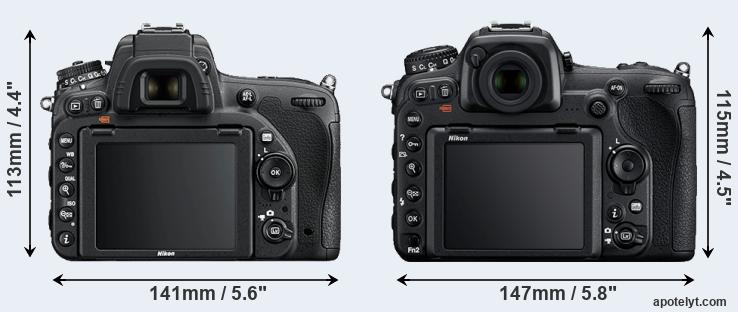 D750 and D500 rear side