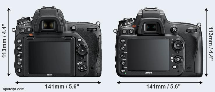 D750 and D610 rear side