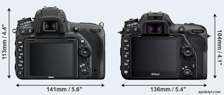 D750 and D7500 rear side