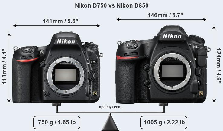 nikon d750 vs d850 iso performance