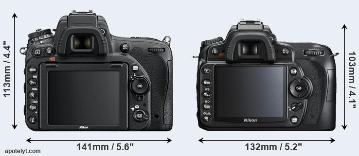 D750 and D90 rear side
