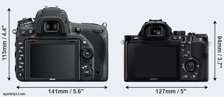 D750 and A7 rear side