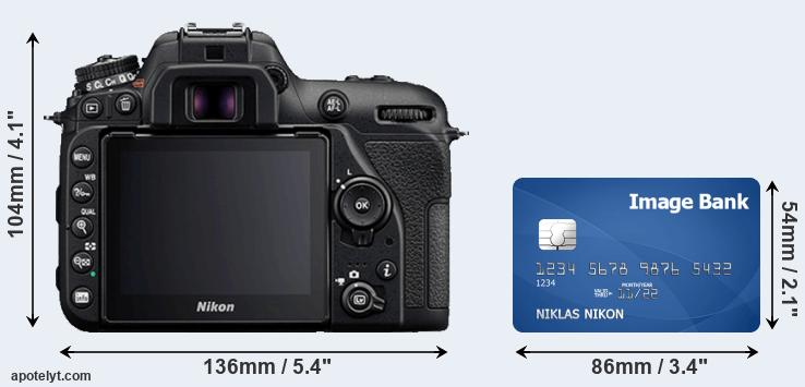D7500 and credit card rear side
