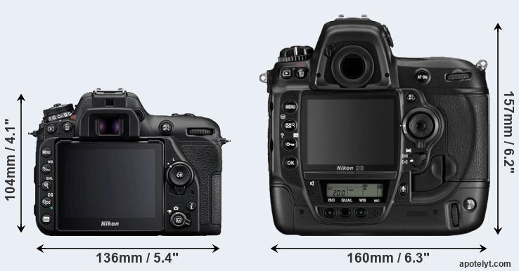 D7500 and D3 rear side