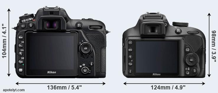 D7500 and D3400 rear side