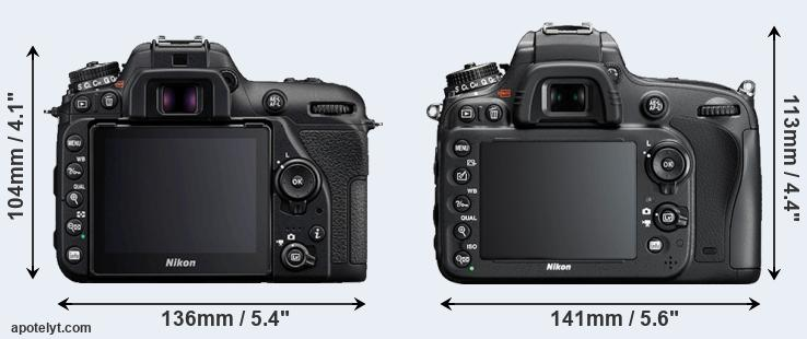 D7500 and D610 rear side