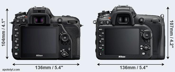 D7500 and D7200 rear side