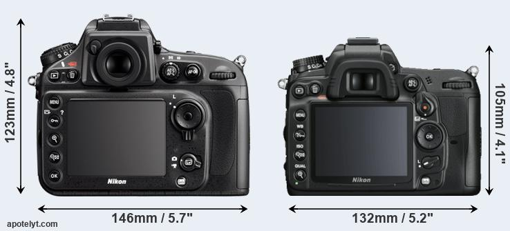D800 and D7000 rear side