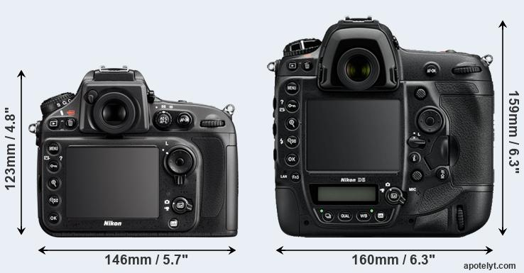 D800 and D5 rear side
