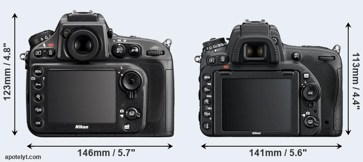 D800 and D750 rear side