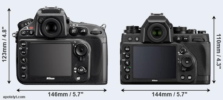 D800 and Df rear side