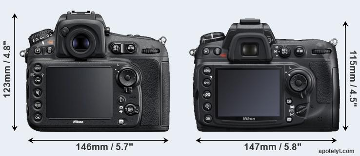 D810 and D300S rear side