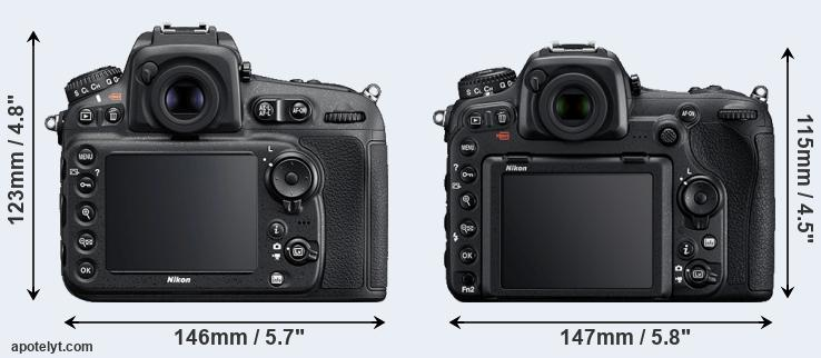 D810 and D500 rear side